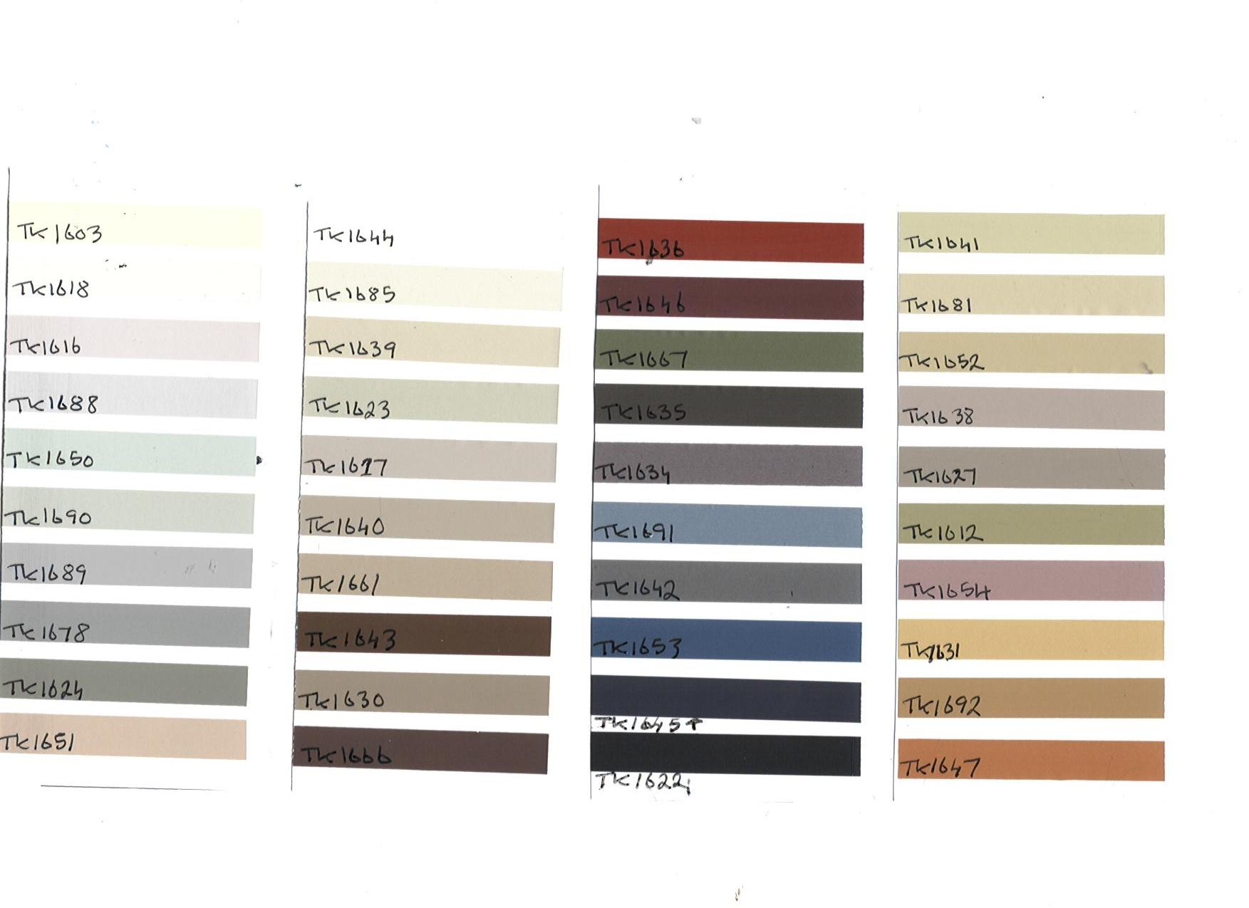 Products > Wall Grout Colours